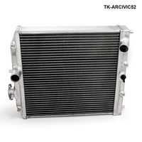 Car 3Row Full Aluminum Racing Radiator For Honda Civic EK EG DEl Sol Manual 92 00 D15 D16 52MM Core TK ARCIVIC52