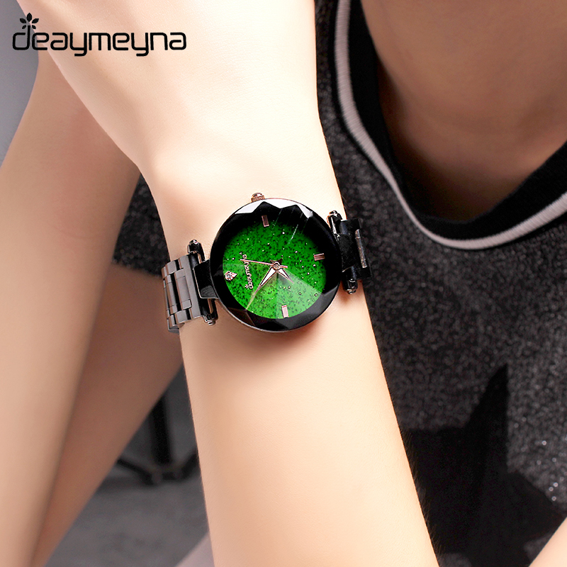 Deaymeyna Luxury Fashion Dress Women Watches Ladies Watch Stainless Steel Quartz Wrist Watch For Gifts Present Dropshipping mjartoria women bracelet watch set bangles crystal jewelry steel watch quartz wrist dress ladies watches for best gifts decor