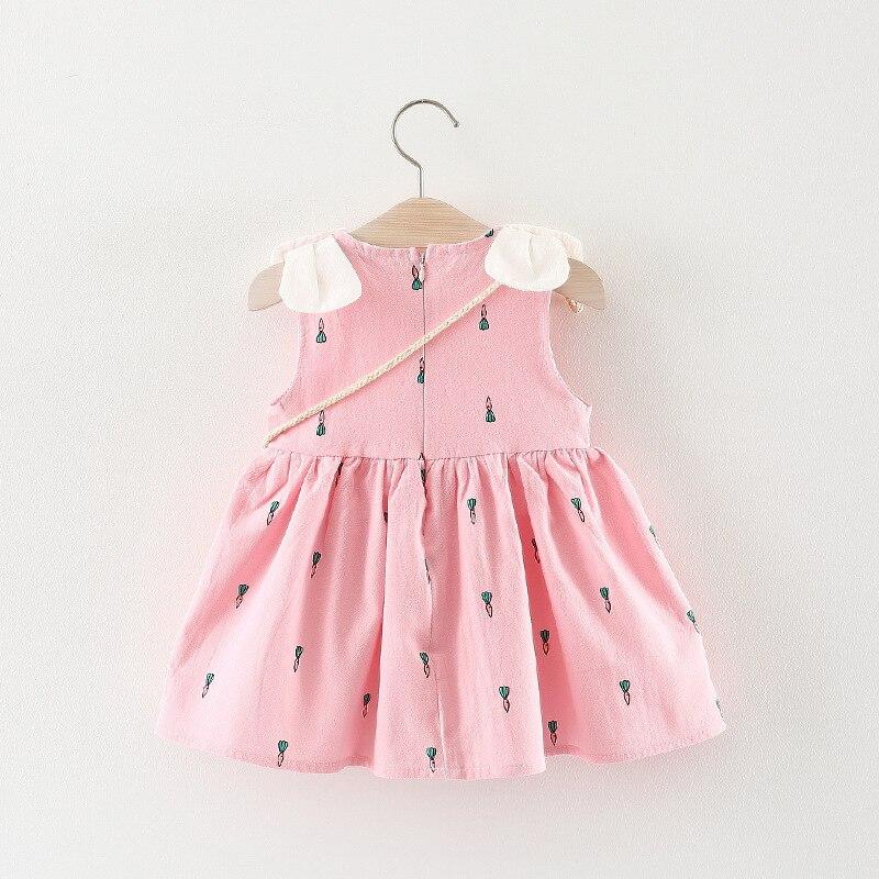 2018 letnie dziewczynek sukienka kwiatowy niemowlęcy sukienka - Odzież dla niemowląt - Zdjęcie 4