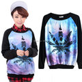 Women Harajuku Style Cute Cat Print Sweater Tops Long Sleeve Pullover Tracksuit