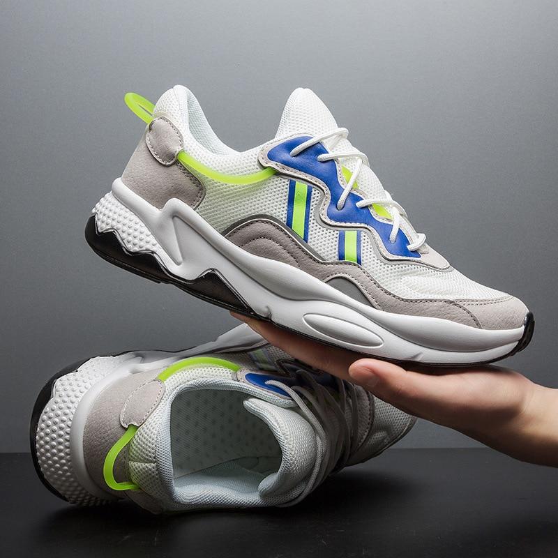 Quality Dad Shoe 2019 Four Seasons Male Shoe Motion Leisure Tide Casual Platform Shoes Sneakers Men Zapatos De Hombre Scarpe in Men 39 s Casual Shoes from Shoes