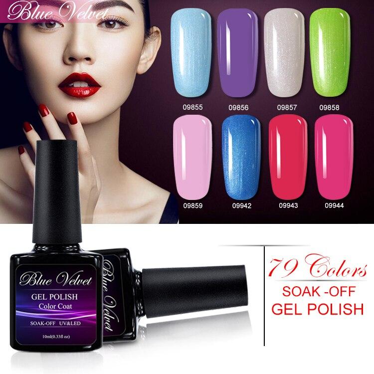 Blue Velvet 1Pcs Soak Off 10ml UV Gel Nail Polish Long