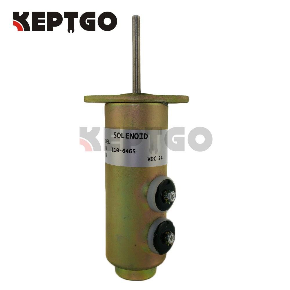 110-6465, 6T-4122, 24V Fuel Stop Solenoid Apply For CAT fuel shutdown solenoid valve 110 6465 6t 4122 for diesel engine 24v