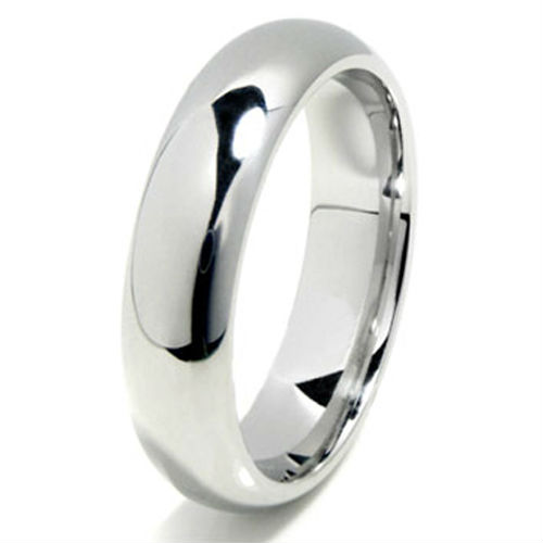 tailor made 6mm shiny dome cobalt chrome wedding promise band ring size 4 17 whole
