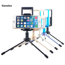 Xiamelon 2 in 1 Pill Stand Telephone Clamp Holder Tripod Mount Steel Clip Mount Bracket Adapter For Ipad Samsung Iphone Huawei