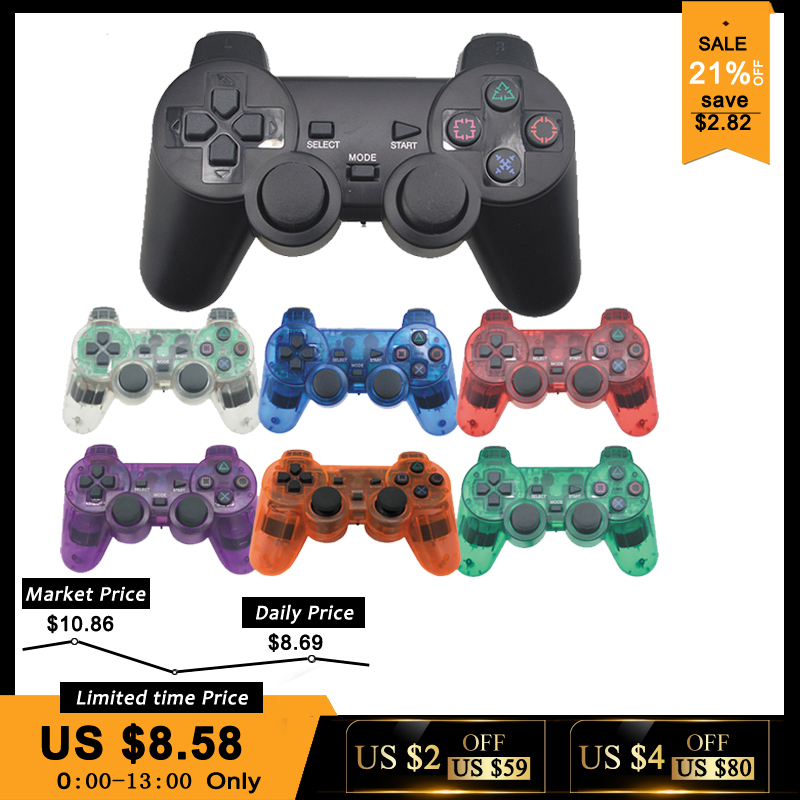 Wireless Gamepad para Sony PS2 controlador para consola Playstation 2 Joystick de vibración doble Shock Joypad inalámbrico control