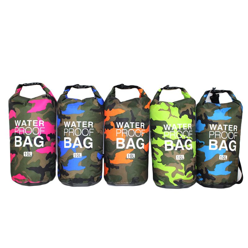 Waterproof Swimming Bag Dry Sack Camouflage Colors Fishing Boating Kayaking Storage Drifting Rafting Bag 2L 5L 10L 15L 20L