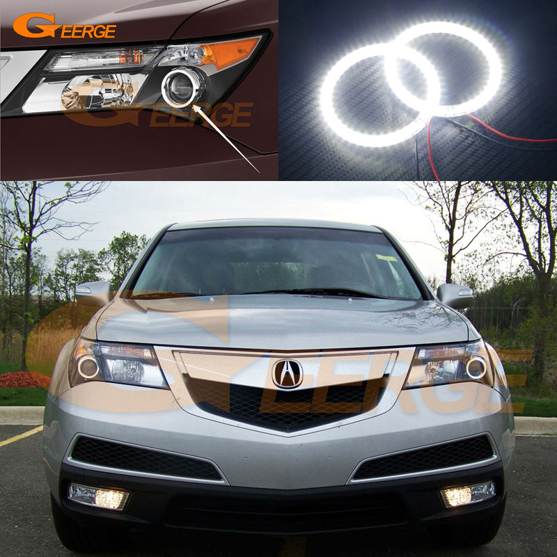 For Acura MDX 2007 2008 2009 2010 2011 2012 2013 Excellent Ultra bright illumination smd led Angel Eyes Halo Ring kit for lifan 620 solano 2008 2009 2010 2012 2013 2014 excellent ultra bright illumination smd led angel eyes halo ring kit