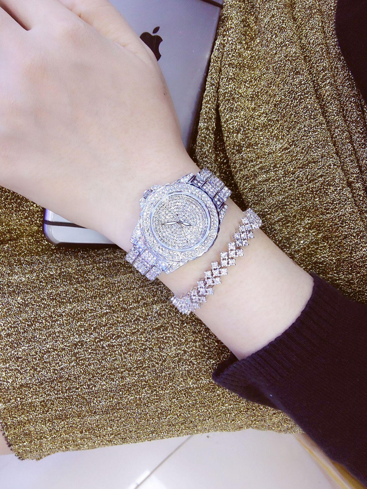 2018 New Luxury Women Watches Rhinestone Crystal Wristwatch Lady Dress Watch Men's Luxury Analog Quartz Watches Clocks Relogio new arrival luxury women watches rhinestone ceramic crystal quartz watches lady dress watch free shipping