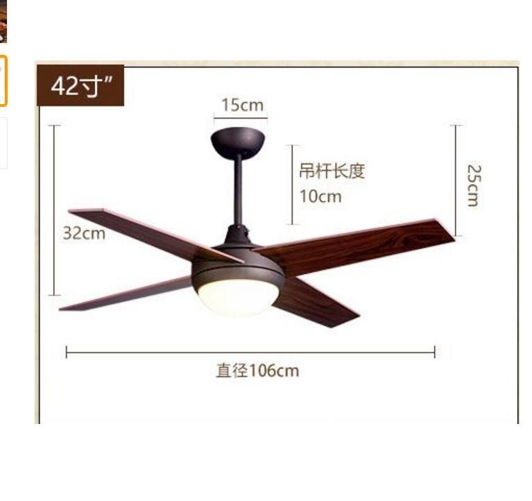 Fabriek groothandel LED afstandsbediening Plafond Ventilator ...