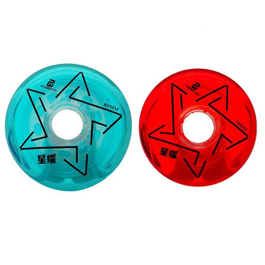 Diamond Inline Skate Wheels 83A Red Blue Pink 64 68 70 72 76 80mm Slalom Slide Roller Skating Tires For SEBA Powerslide Patines