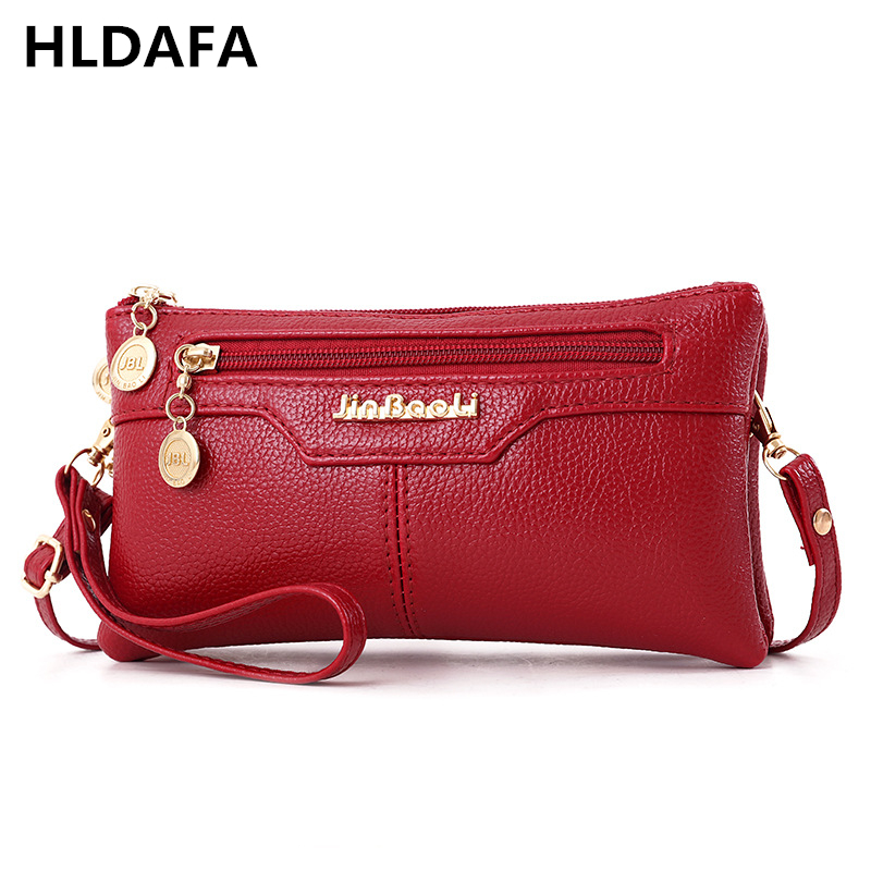 HLDAFA New 2019 PU Designer Leather Women Day Clutch Bag Small Handbags Shoulder Bags Messenger Bag Lady Clutches Daily Use Bag