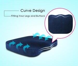 Image 4 - PurenLatex coussin fin en mousse à mémoire de forme pour chaise et siège de voiture, coussin de hanches à rebond lent, 45x35, oreiller orthopédique