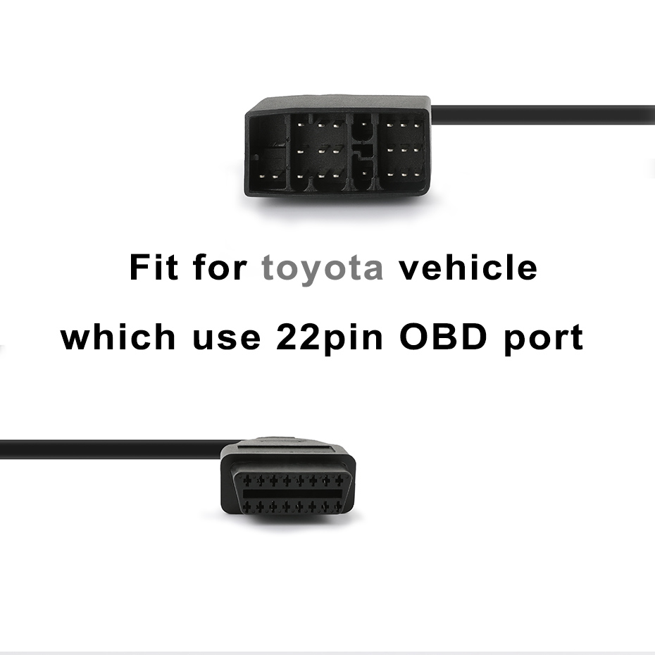 for Japanese Cars 22Pin to OBD2 16pin Connector Adapter OBD II Car  Accessories OBD Diagnostic Cable