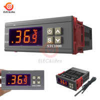 LCD Digital Temperature Controller STC-1000 12V 24V 110V 220V Thermostat Thermoregulator incubator Relay 10A Heating Cooling