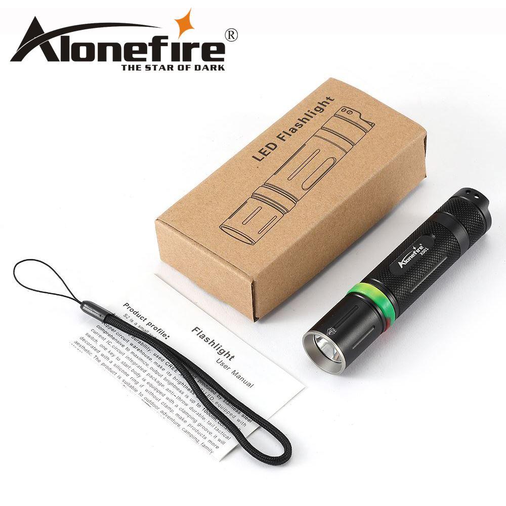 AloneFire X001 Tactics flashlight Powerful mihi led flashlight high quality 18650 CREE XML L2 1000LM led torch penlight sitemap 59 xml