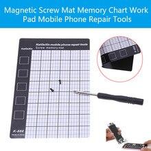 1PC 磁気ネジマットメモリチャート作業パッド携帯電話の修復ツール 145 × 90 ミリメートルパームサイズ修理パッド磁気ネジマット