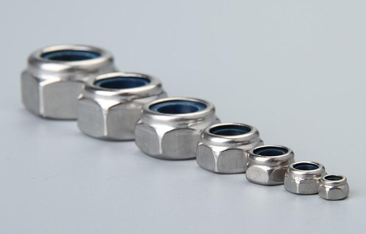 Self Locking Nut >> Aliexpress Com Buy M2m2 5m3m4m5m6m8m10m12m16 Din985 Lock Nut