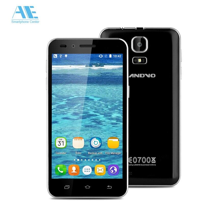 Original Landvo V1 MT6580M Quad Core Android 5.1 Smartphone 512MB RAM 8G ROM 2MP 854*480 4.5 Inch 1200mAh 3G WCDMA Mobile Phone