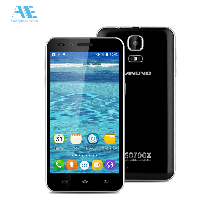 Original Landvo V1 MT6580M Quad Core Android 5.1 Smartphone 512MB RAM 8G ROM 2MP 854*480 4.5 Inch 1200mAh 3G WCDMA Mobile Phone