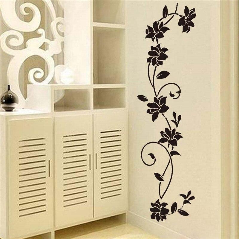 Online Get Cheap Wall Flower Black Sticker -Aliexpress.com | Alibaba ...
