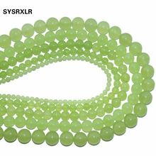 Free Shipping Dye Color Lemon Green Natural Stone Agata Beads For Jewelry Making DIY Bracelet Necklace 4 6 8 10 12 MM Strand
