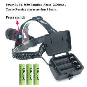 Image 5 - Lampe frontale frontale avec Zoom/sortie, batterie Lithium Ion Xhp70.2, lampe torche originale à 3 ampoules