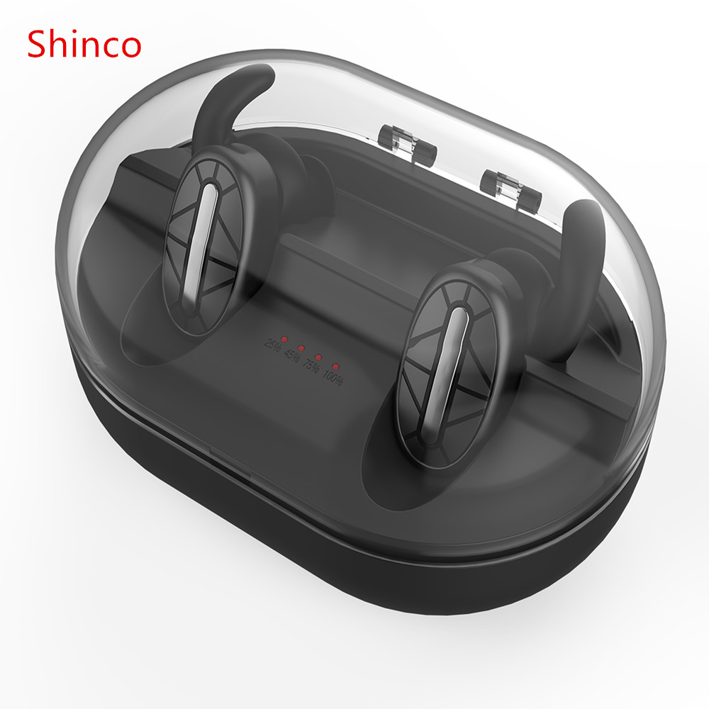 Shinco T101 Bluetooth 4.1 Earphone Noise Reduction Bluetooth Headset for Mobile Phone Wireless Sports Bass Earphone Music Headse dental endodontic root canal endo motor wireless reciprocating 16 1 reduction