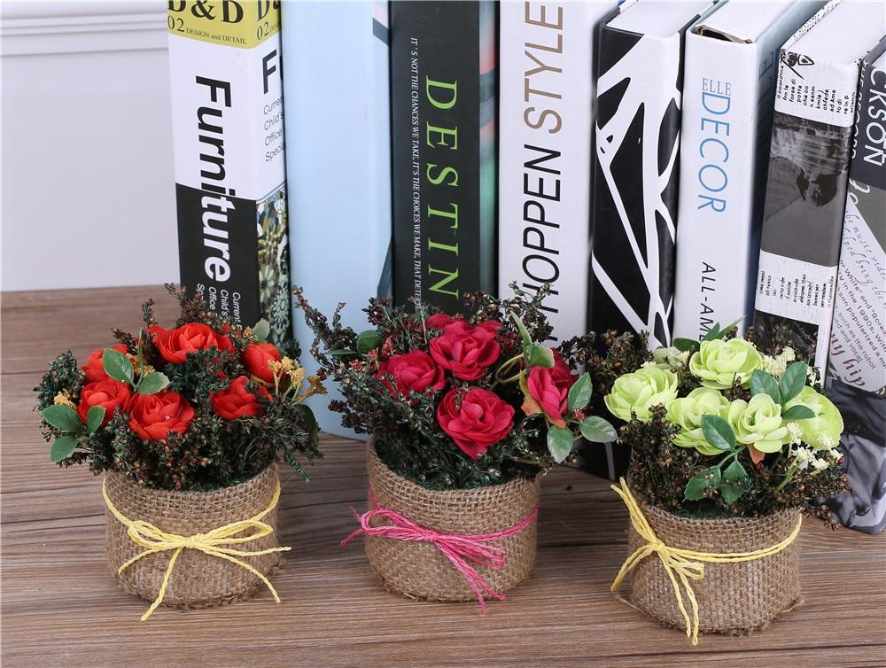 Popular silk flower baskets buy cheap silk flower baskets for Artificial flower vase decoration ideas
