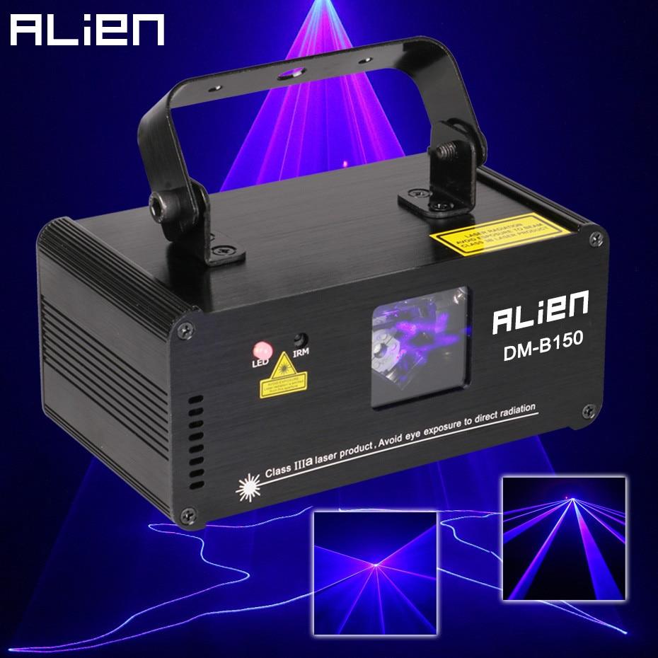 ALIEN Remote DMX512 150mw Blue Laser Scanner DJ Disco Beam Stage Lighting Effect Blue Laser Projector