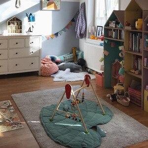 Image 2 - Manta de algodón con forma de hoja para bebé, tapete de juego para niño, alfombra para gatear, decoración para el hogar para niño, ropa de cama para bebé, manta para cochecito