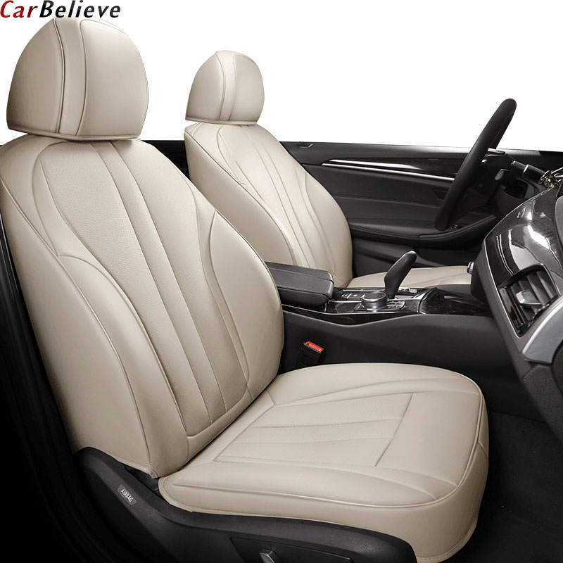 Car Believe Genuine leather seat cover For mitsubishi lancer 9 10 outlander xl pajero 4 asx