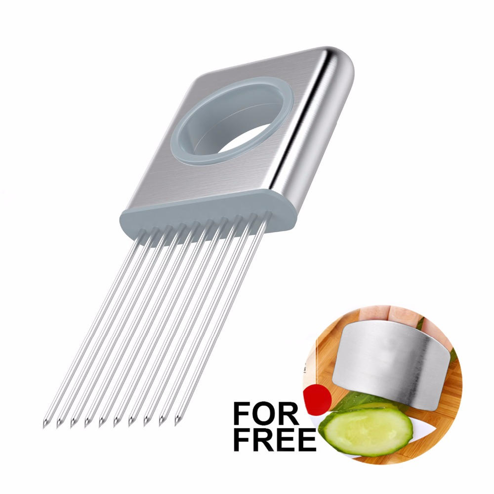 2018 Onion Cutter Tomato Cutting Holder Vegetable Slicer Shredder Fruit Chopper Slicing Carrots Aid Kitchen Cooking Accessories