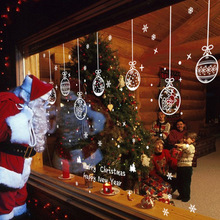 2019 New Year Merry Christmas Decorations for Home Glass Window Shop Window Christmas Decoration Sticker Navidad Natal