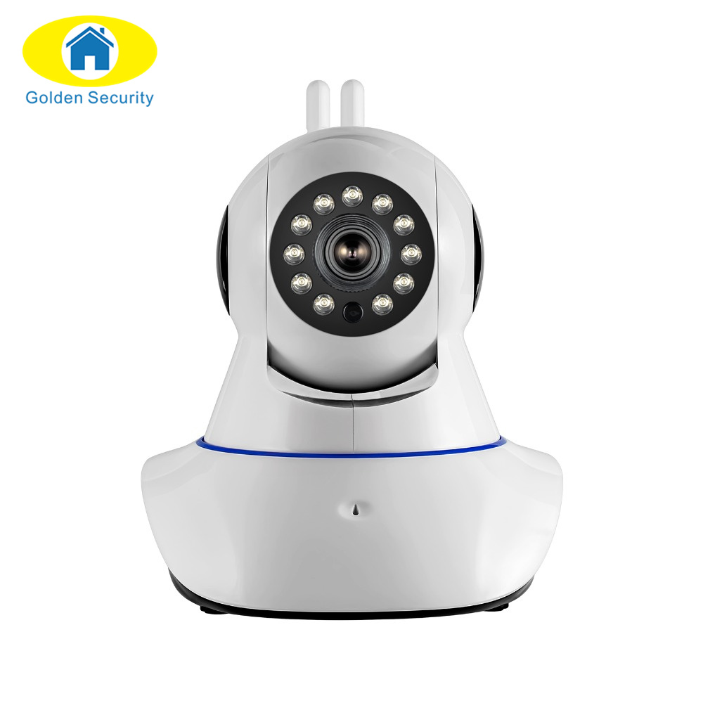 golden security double antenna security camera wireless wifi 720p hd digital security cctv. Black Bedroom Furniture Sets. Home Design Ideas