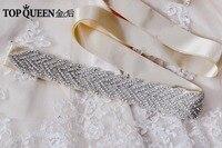 TOPQUEEN S238 frauen Luxus-mode Kristall Perlen Sashs Braut Kristall Verzierten Taille Gürtel Strass Schärpe Gürtel Hochzeit Schärpe