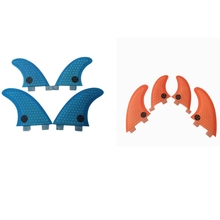 Surf FCS fins fin G3+GL 4pcs per set Orange/blue color in surf