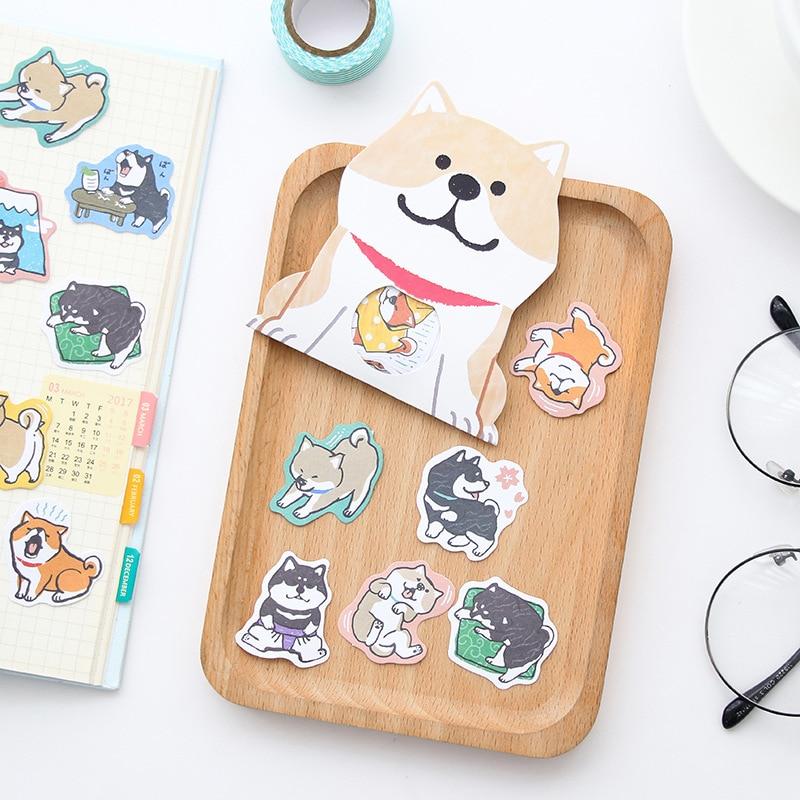 Creative Cute Shiba Inu Dog Decorative Washi Stickers Scrapbooking Stick Label Diary Stationery Album Stickers