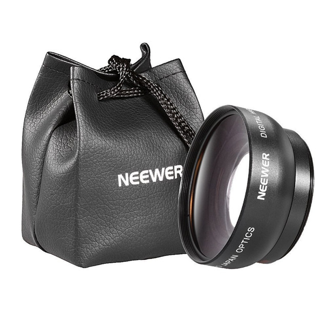 Neewer 52MM 0.45X Wide Angle High Definition Lens with Macro for NIKON D5300 D5200 D5100 D5000 D3000 D7100 D7000 DSLR Cameras