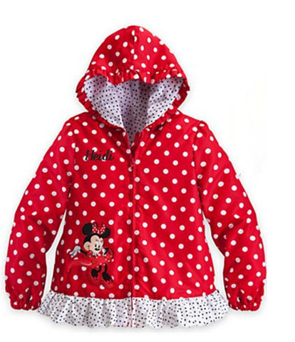 2015 autumn style little girls fashion casual jacket dot lace blouse cartoon tops 2 color casual jacket free shipping