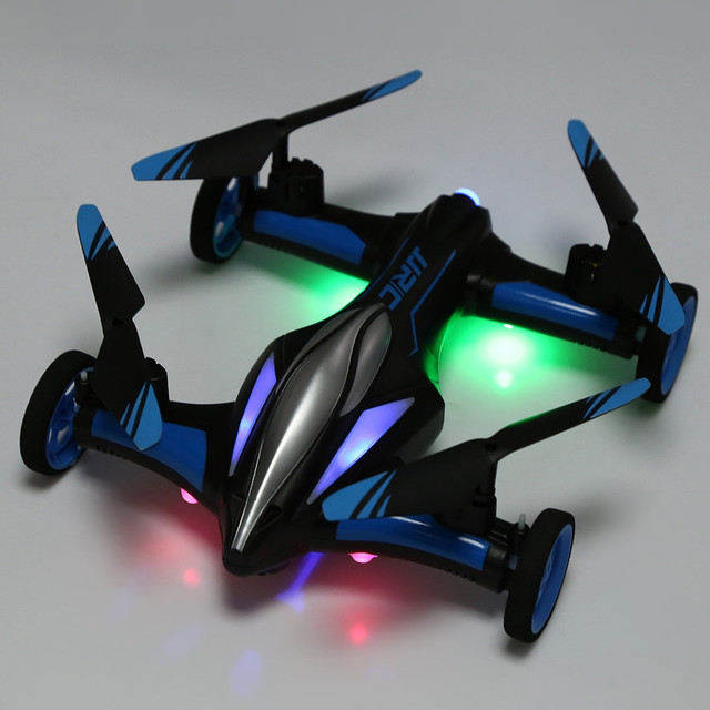JJRC H23 RC Helicopter 2.4G RC Quadcopter Car Land Sky 2 in 1 UFO RTF Quadcopter 3D Flip One-key Return Headless Mode Drone Dron