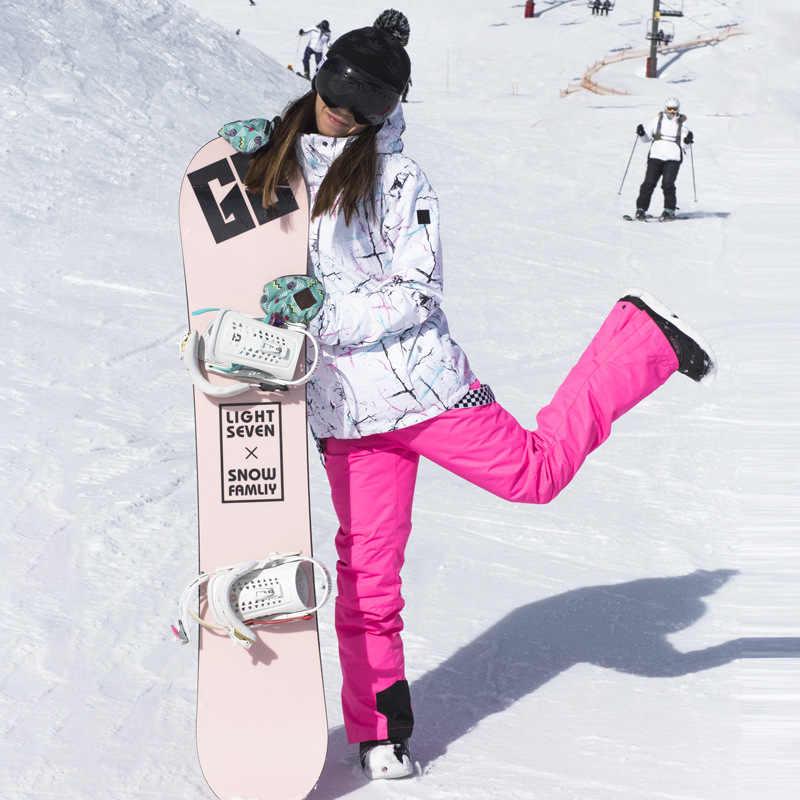 2019 Trượt Tuyết Mùa Đông Phù Hợp Với Nữ Mùa Đông Ngoài Trời Ván Trượt Tuyết Áo Khoác Chống Thấm Nước Có Mũ Ấm Áp Chống Gió Tuyết Quần Áo Liền Quần Trượt Tuyết Bộ