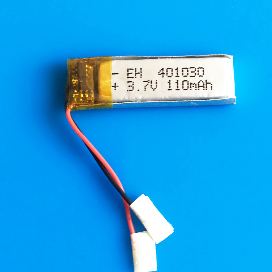 3.7V 110mah 401030 lithium li-polymer ion rechargeable battery for MP3 MP4 GPS bluetooth headset video pen camera 4x10x30mm
