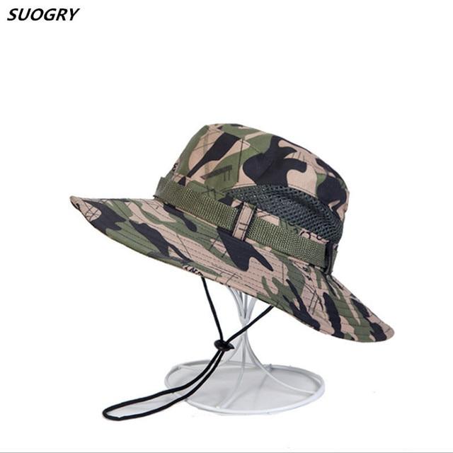 fd1613f2 6 Colors Military Camouflage Bucket Hats Jungle Camo Fisherman Hat with Wide  Brim Sun Fishing Bucket