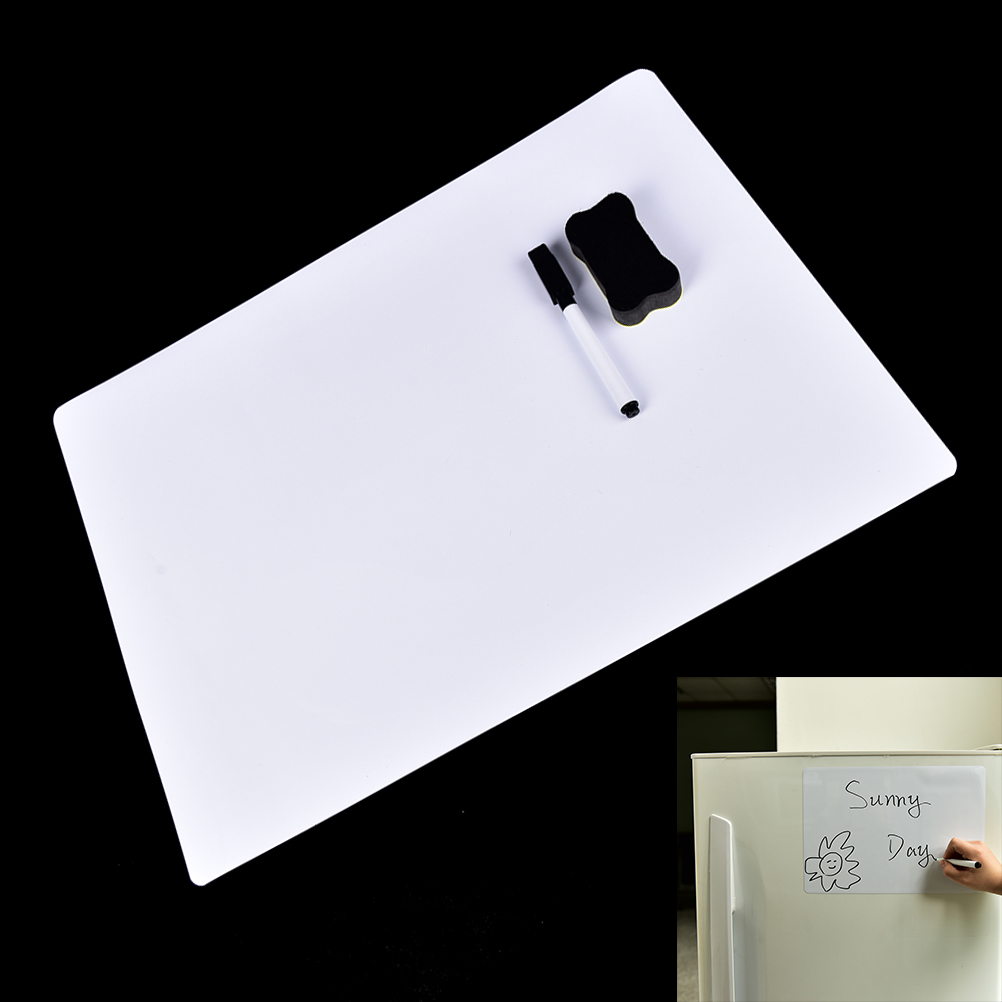 30x21cm Flexible Magnetic Fridge WritingBoard Removable Whiteboard Message Board Pad Reminder Board Pen Eraser Magnet