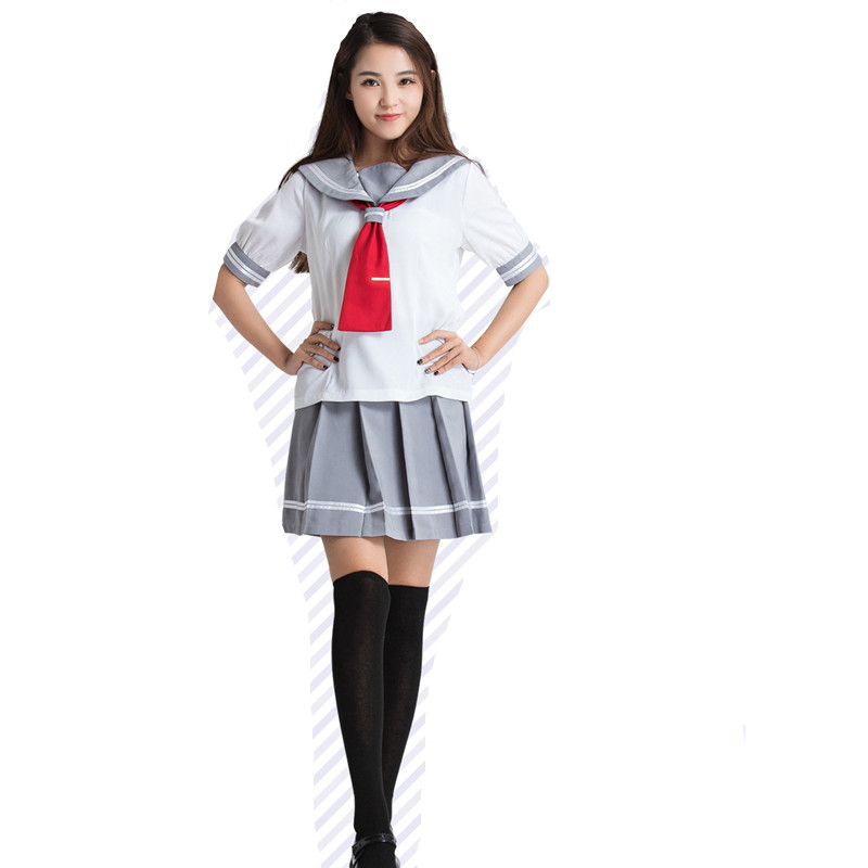 Japanese School Uniforms For Gilrs Love Live Sunshine Aqours Cosplay Costume Clothes Takami Chika Girls Sailor Uniforms