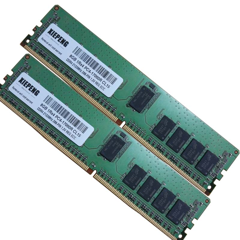 Memory <font><b>32GB</b></font> PC4-17000 <font><b>DDR4</b></font> 2133MHz Reg ECC 16GB ECC Registered 8GB 288pin <font><b>RAM</b></font> for Dell PowerEdge M630 FC630 R430 Server image