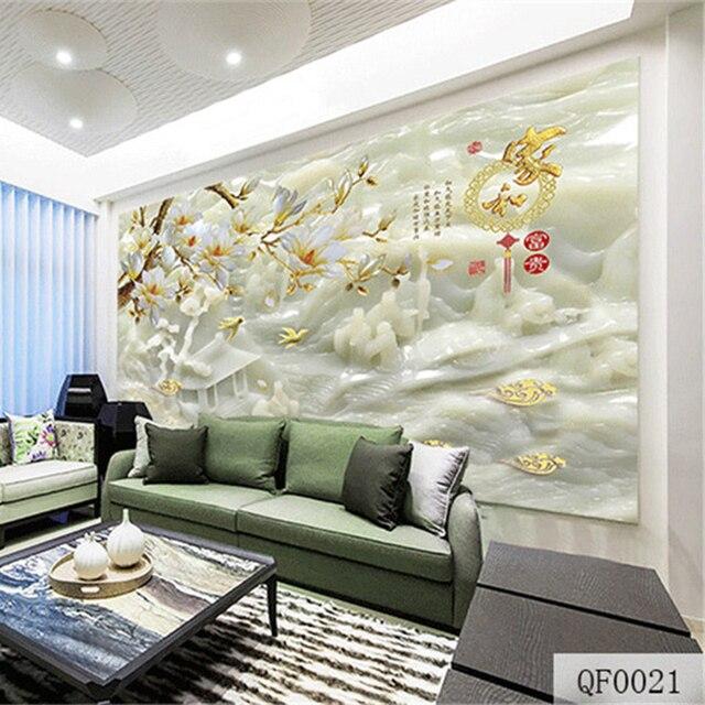 QINGCHUN Custom 3D Print Fabric Textile Wallcoverings Wall Murals