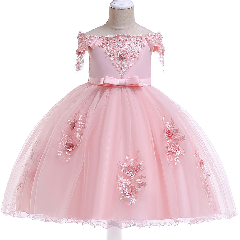 Girl Dresses Children's Party Clothing Girl Ball Gown Clothes First Communion Princess Dress Baby Tutu Costume Clothes L5057