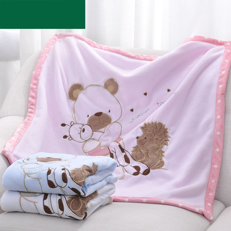 Baby Quilts Funny Cartoon Newborn Bebe Swaddling Wrap Blankets Winter Warm Toddler Infant Stroller Bedding Linen Covers 75*75cm